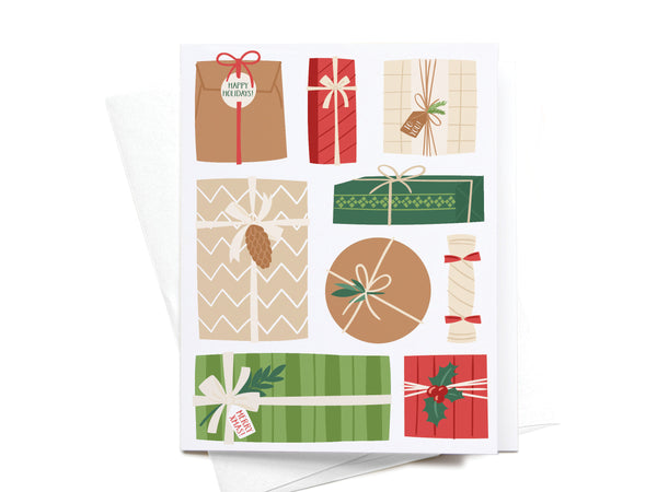Happy Holidays Christmas Gifts Greeting Card