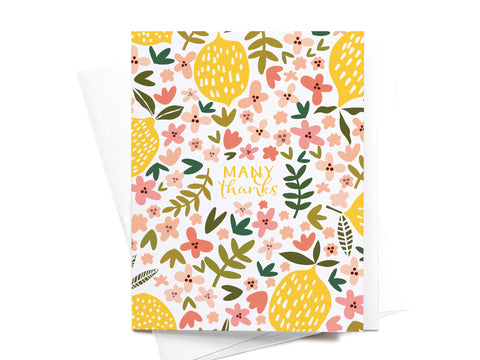 Many Thanks Lemons Greeting Card