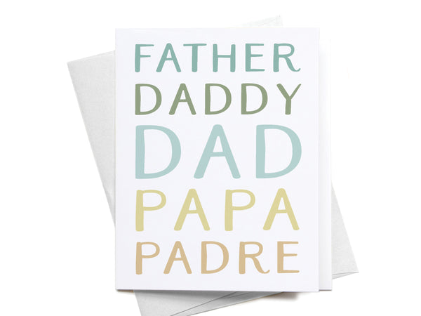Father Daddy Dad Papa Padre Greeting Card