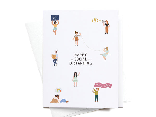 Happy Social Distancing Greeting Card