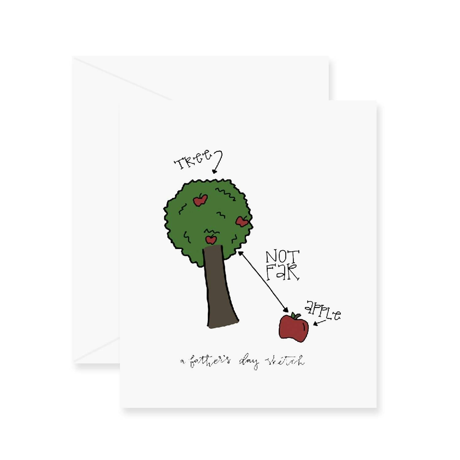 Apple & Tree Greeting Card
