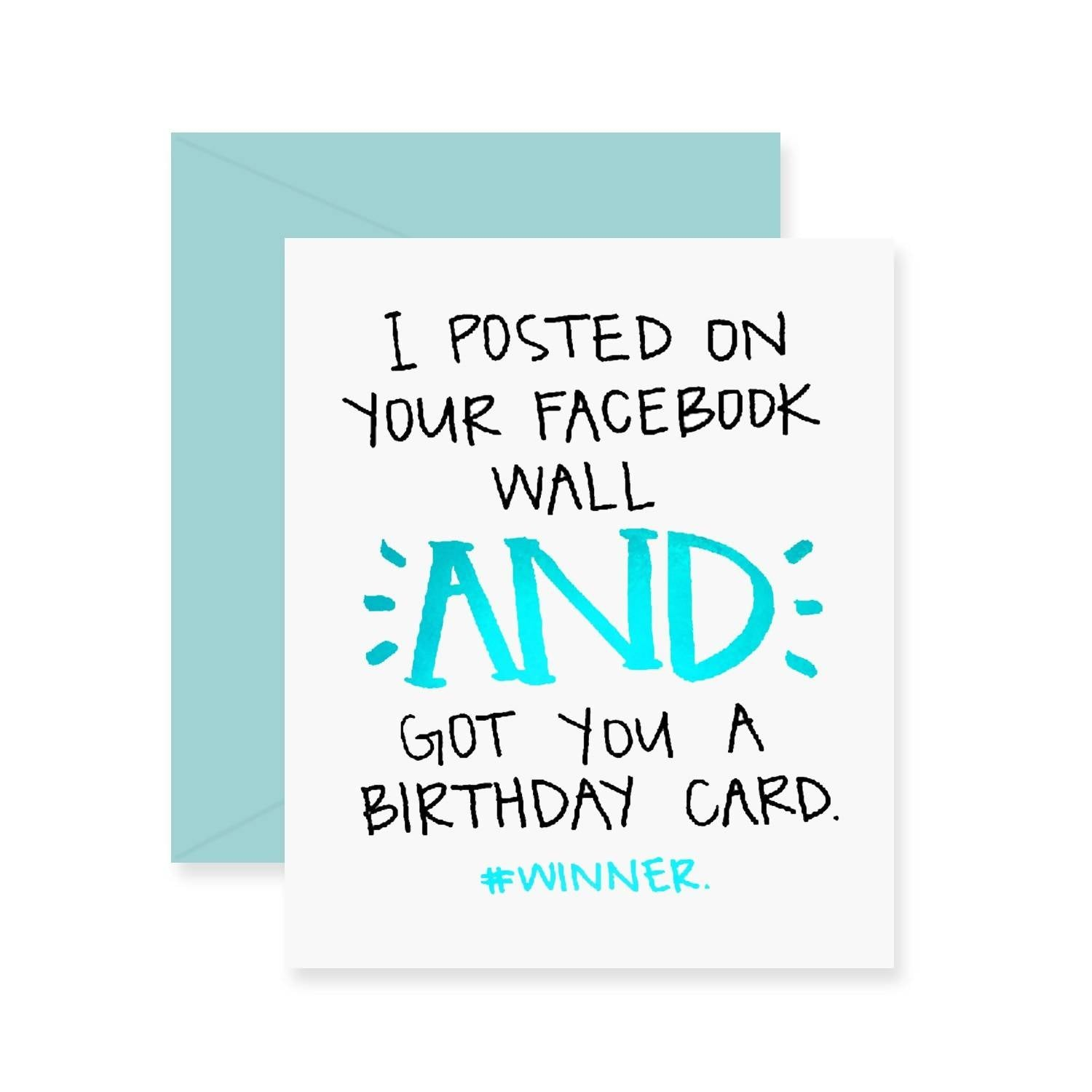 Facebook Birthday Greeting Card (Foil)