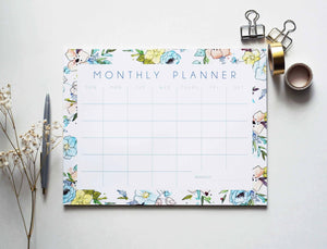 Blue Monthly Notepad