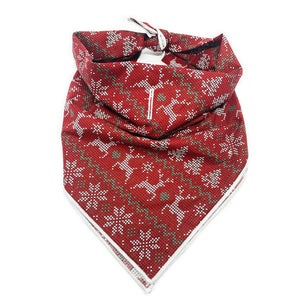 Ugly Sweater dog bandana