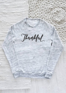 Thankful Adult Raglan Sweatshirt
