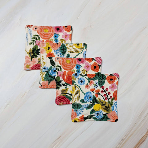 Garden Party Cream Rifle Paper Co Quilted Coasters