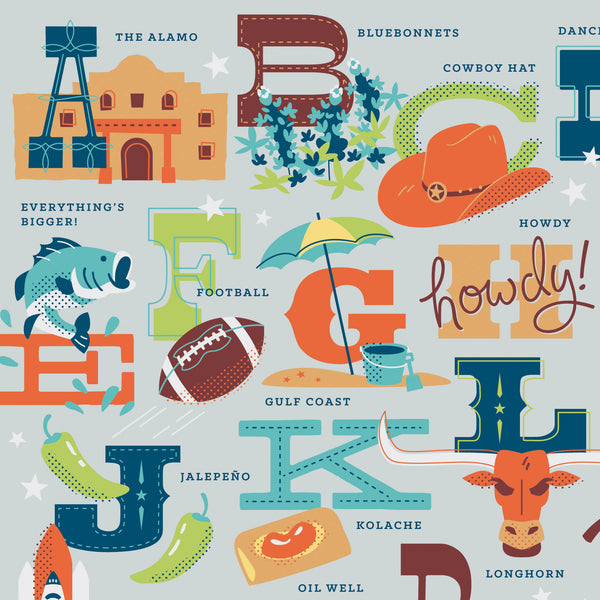 ABCs of Texas Print