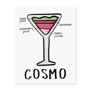 Cosmo Diagram Art Print