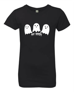 Little Ghosts on Youth Girls Tee
