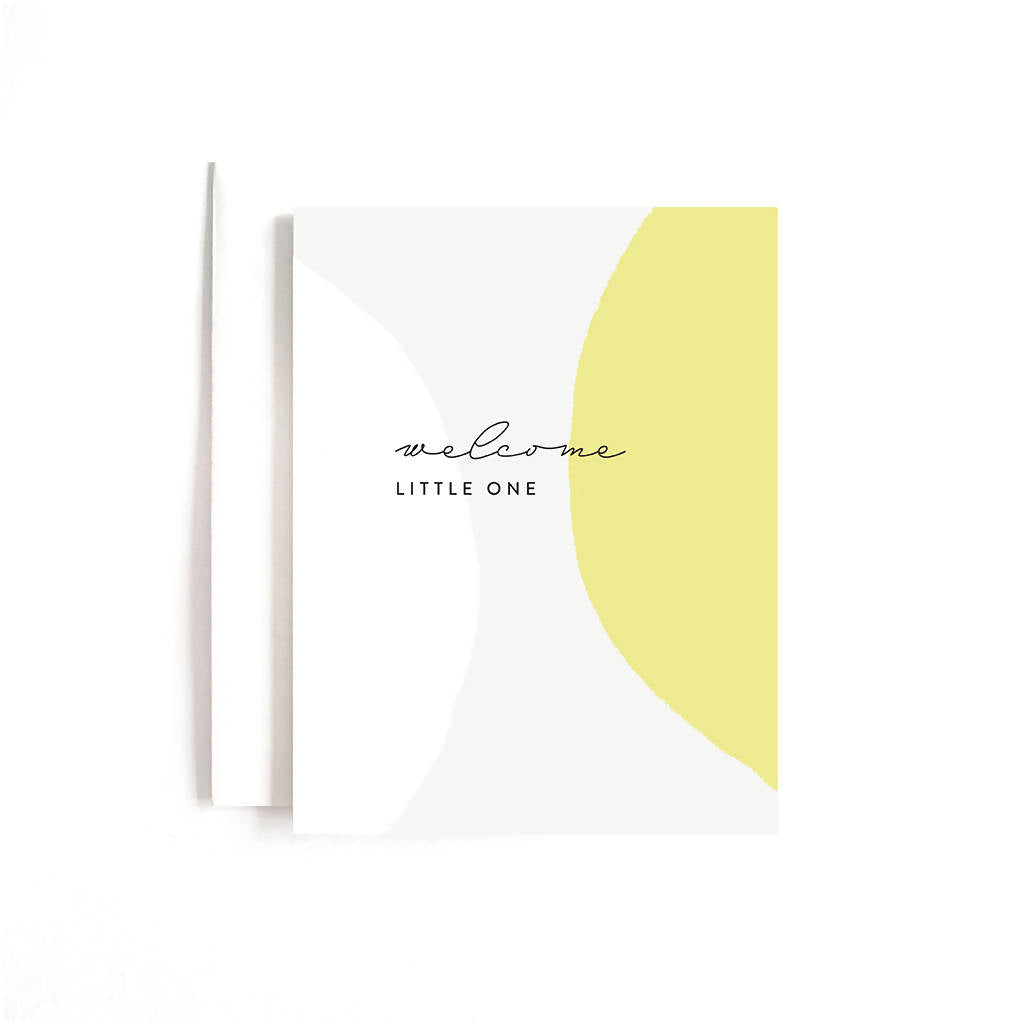 Yellow Welcome Little One Card