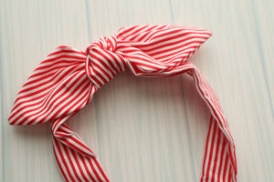 Red & White Stripe Headband