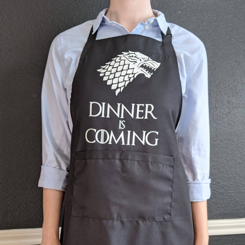"""Dinner is Coming"" Apron"