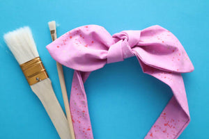 Pink Splatter Paint Headband