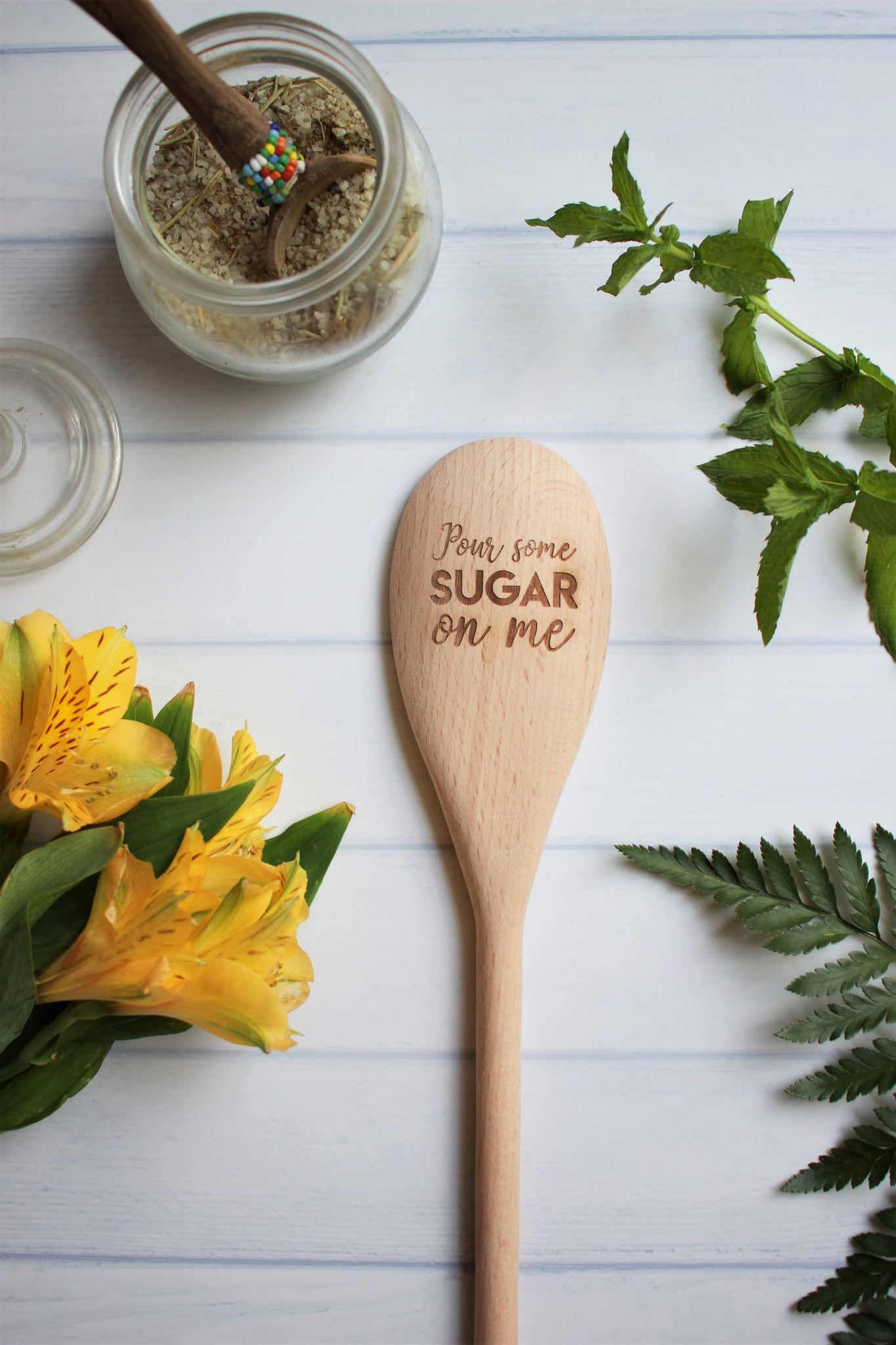 Pour Some Sugar on Me Engraved Wooden Spoon