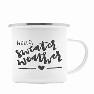 Hello Sweater Weather Coffee Mug