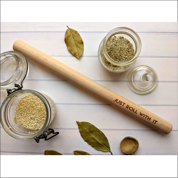 Punny Engraved Rolling Pin - 3 Designs