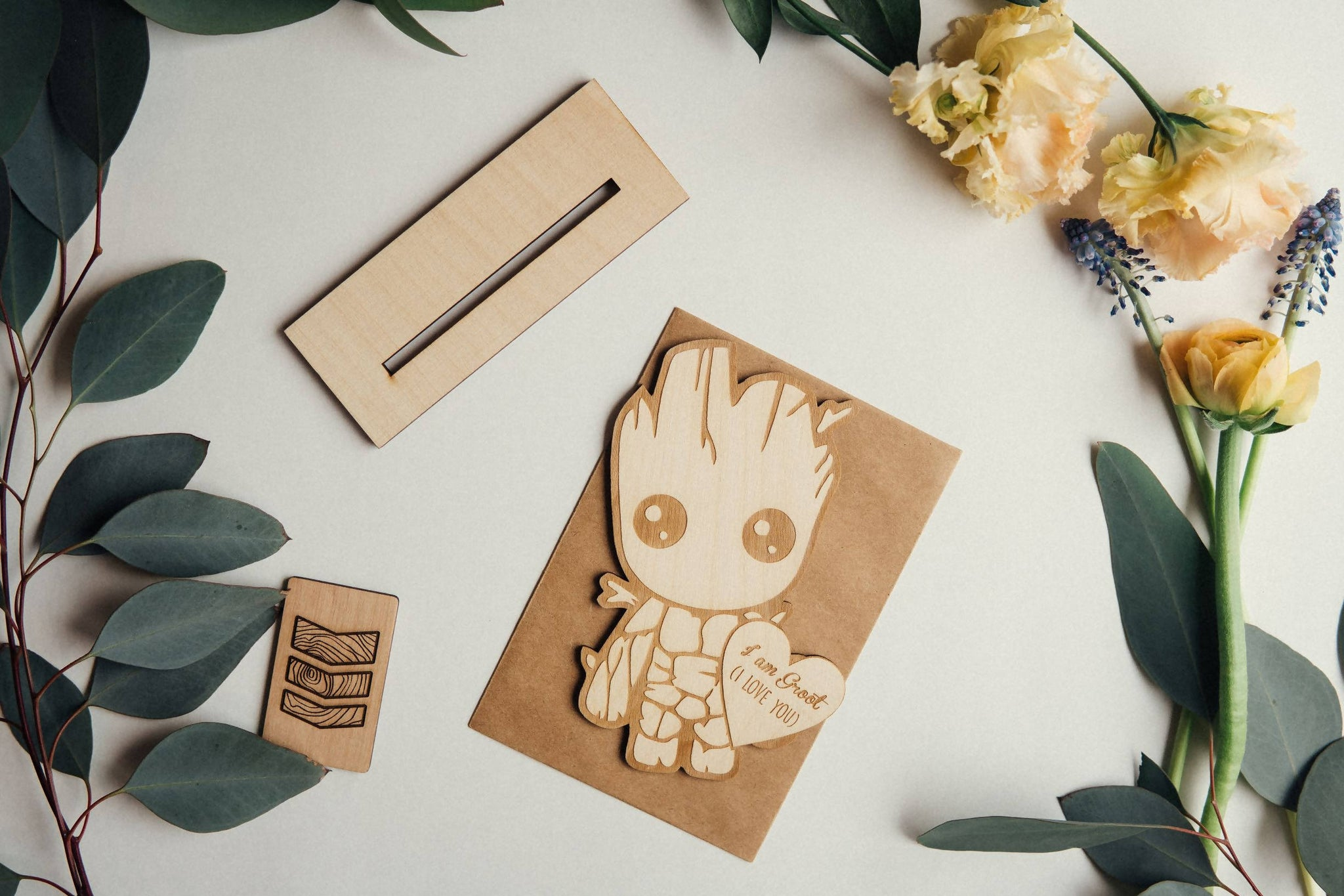 Groot Wooden Greeting card