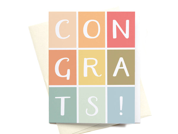 Congrats Colorblocks Greeting Card