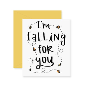I'm Falling For You Greeting Card