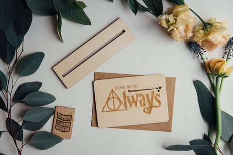 Always Wooden Greeting Card