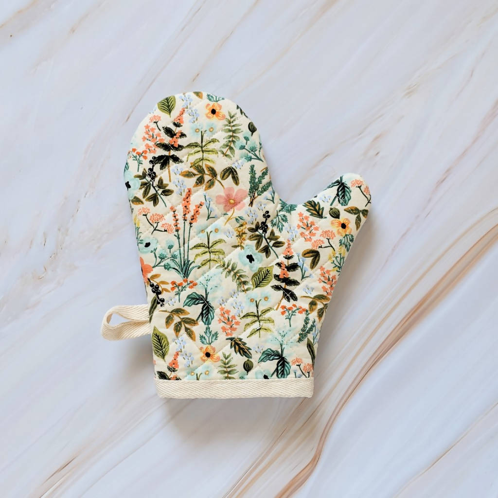 Cream Herb Garden Rifle Paper Co Oven Mitt