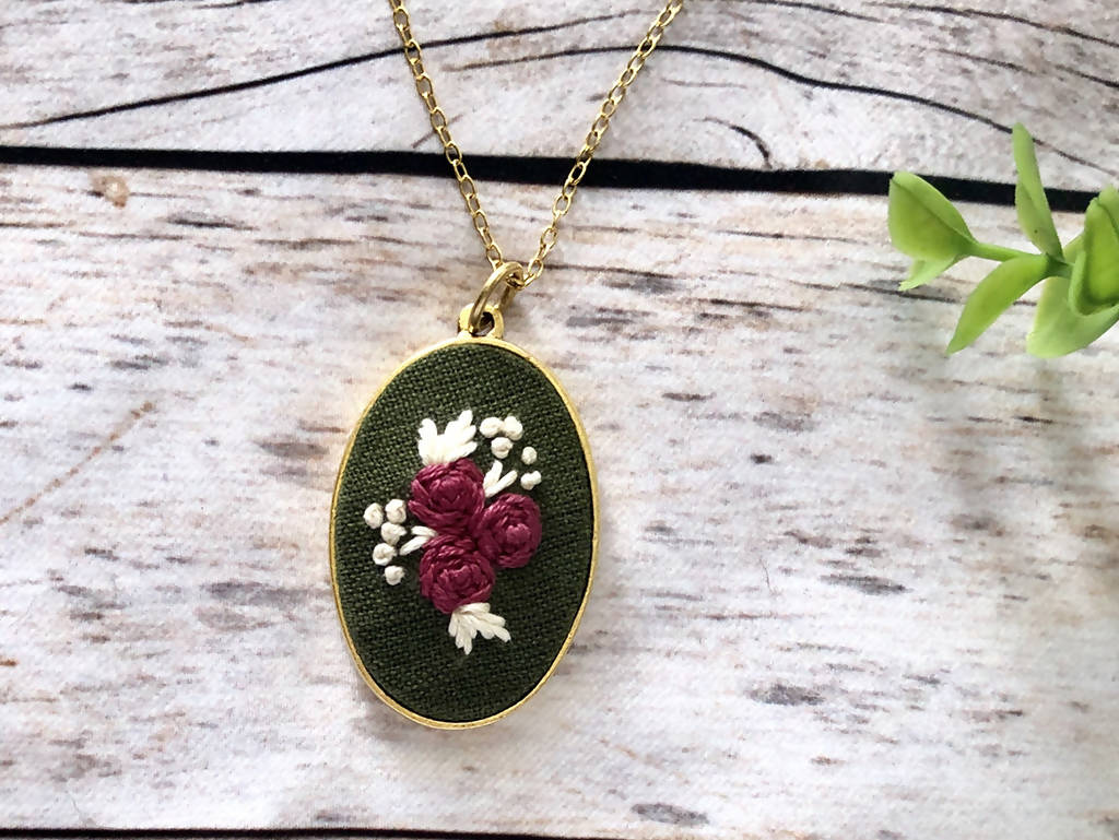 Hand Embroidered Pendent