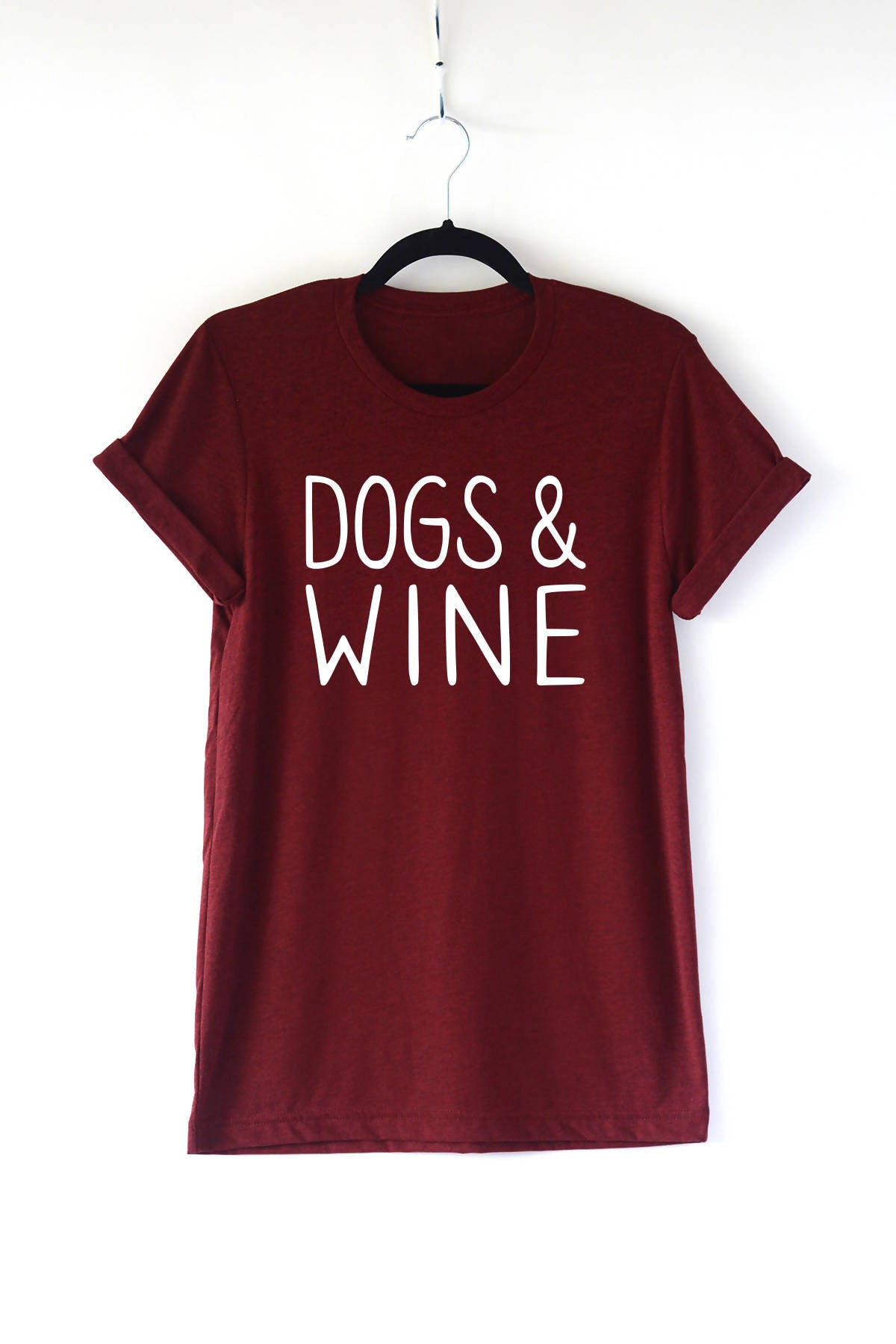 Dogs and Wine Adult Crewneck Tee