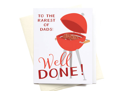 Well Done Grill Greeting Card