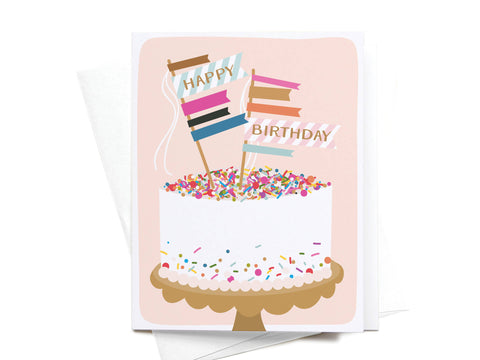 Happy Birthday Sprinkle Cake Greeting Card