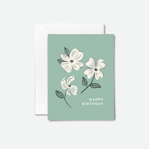 Dogwood Flowers Birthday Card
