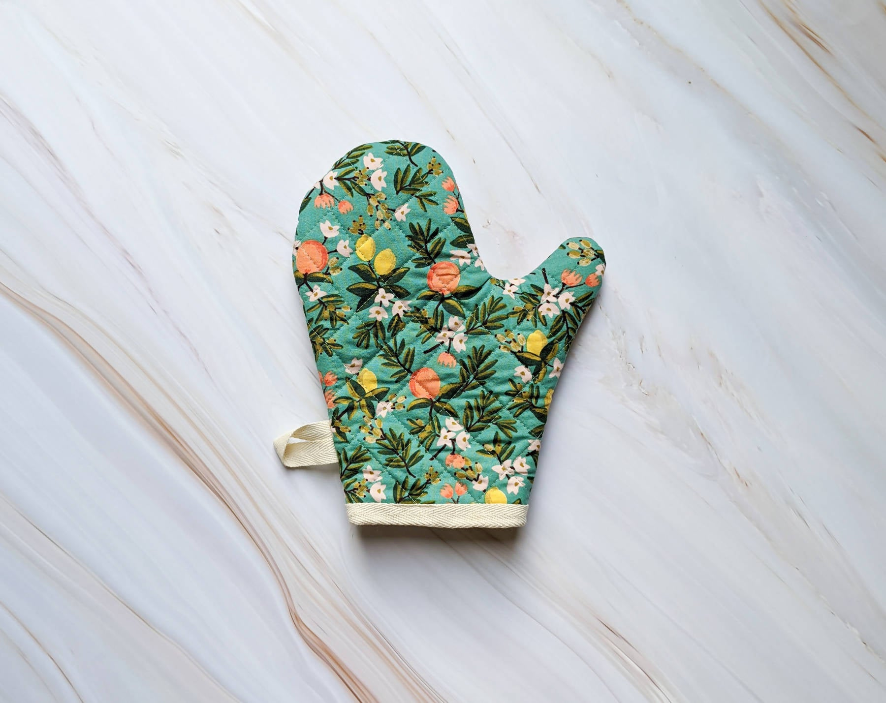 Citrus Teal Rifle Paper Co Oven Mitt