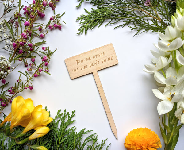 Sassy Engraved Plant Markers