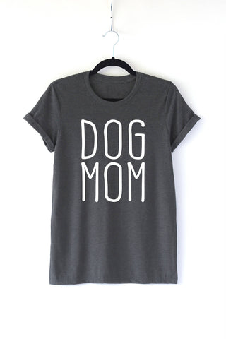 Dog Mom Adult Crewneck Tee