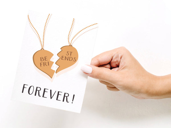 Best Friends Forever Necklace Greeting Card