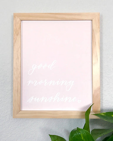 Good Morning Sunshine Wall Art Print
