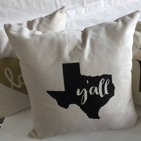 Texas Y'all Pillow