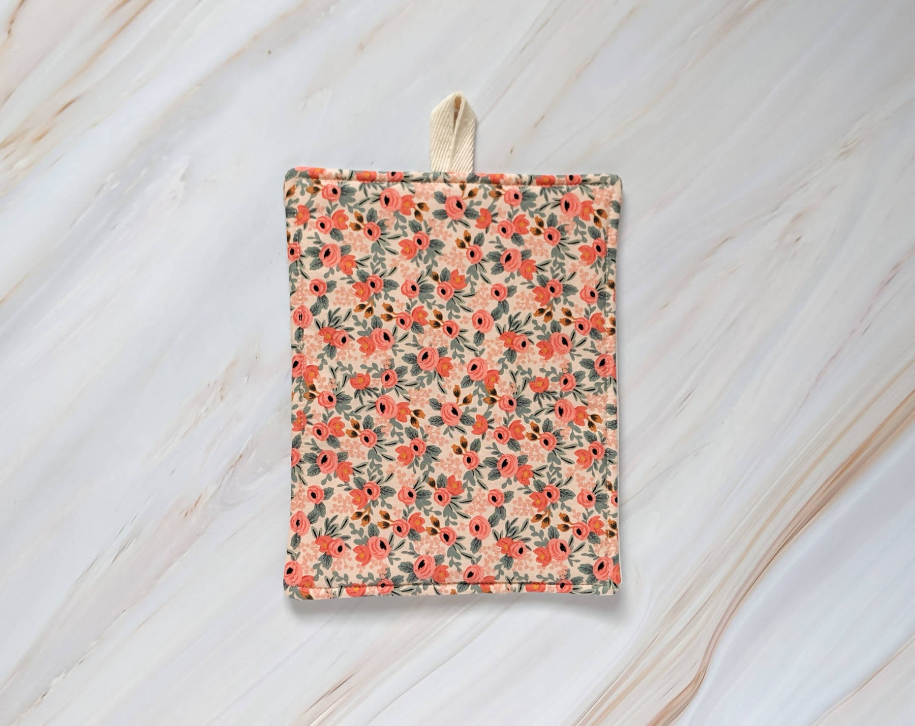 Peach Rosa Rifle Paper Co Pot Holder