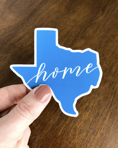 Blue Texas Home Sticker