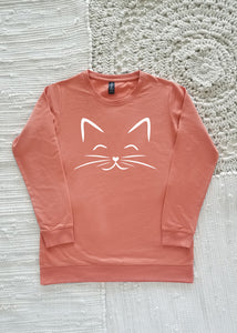 Happy Cat Adult Lightweight Sweatshirt