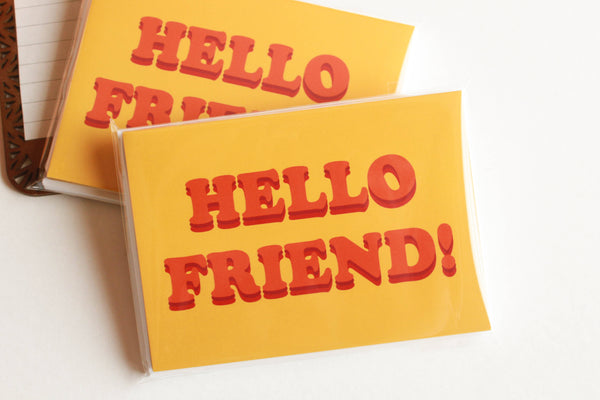 Hello Friend Note Card Set