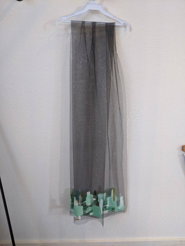Tulle Painted Shawl