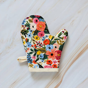 Garden Party Cream Rifle Paper Co Oven Mitt