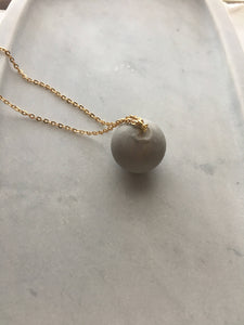 cement sphere necklace