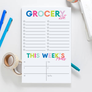 Grocery Meal Planner Notepad