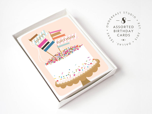 Assorted Birthday Greeting Card Box Set 2