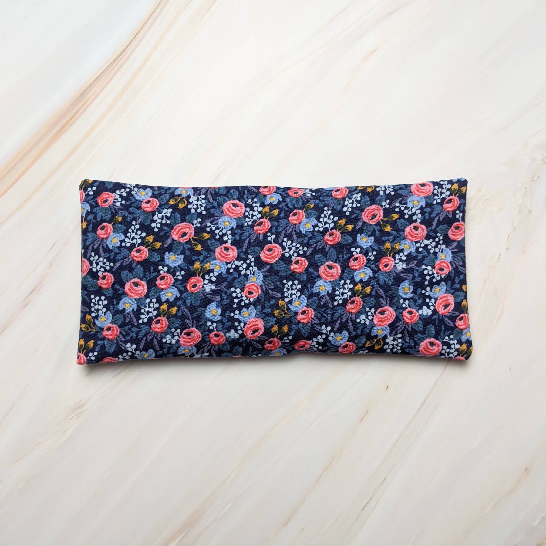 Navy Rosa Rifle Paper Co Unscented Eye Pillow