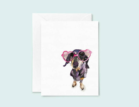 Dachshund Sunglasses Greeting Card