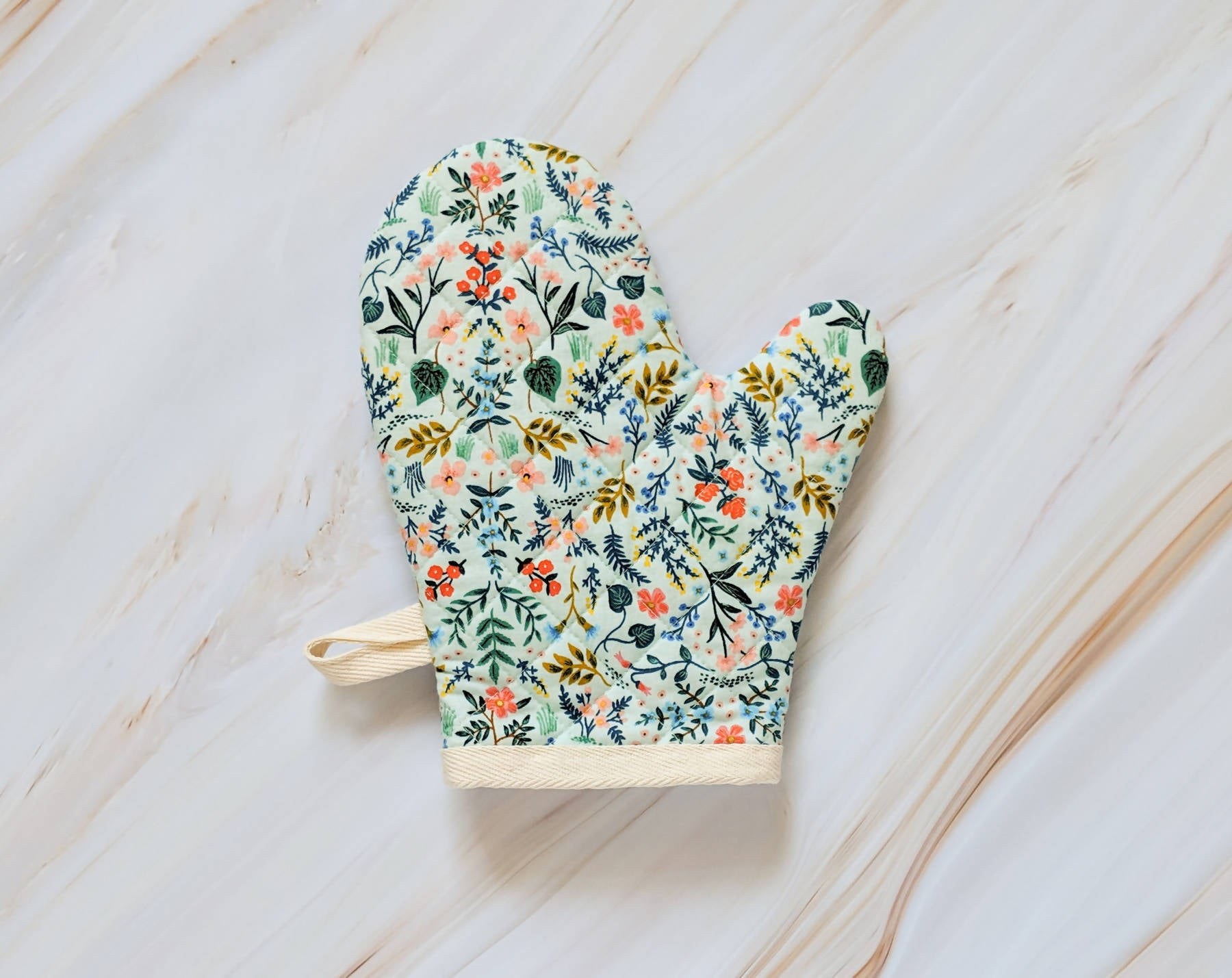 Wildwood Mint Rifle Paper Co Oven Mitt