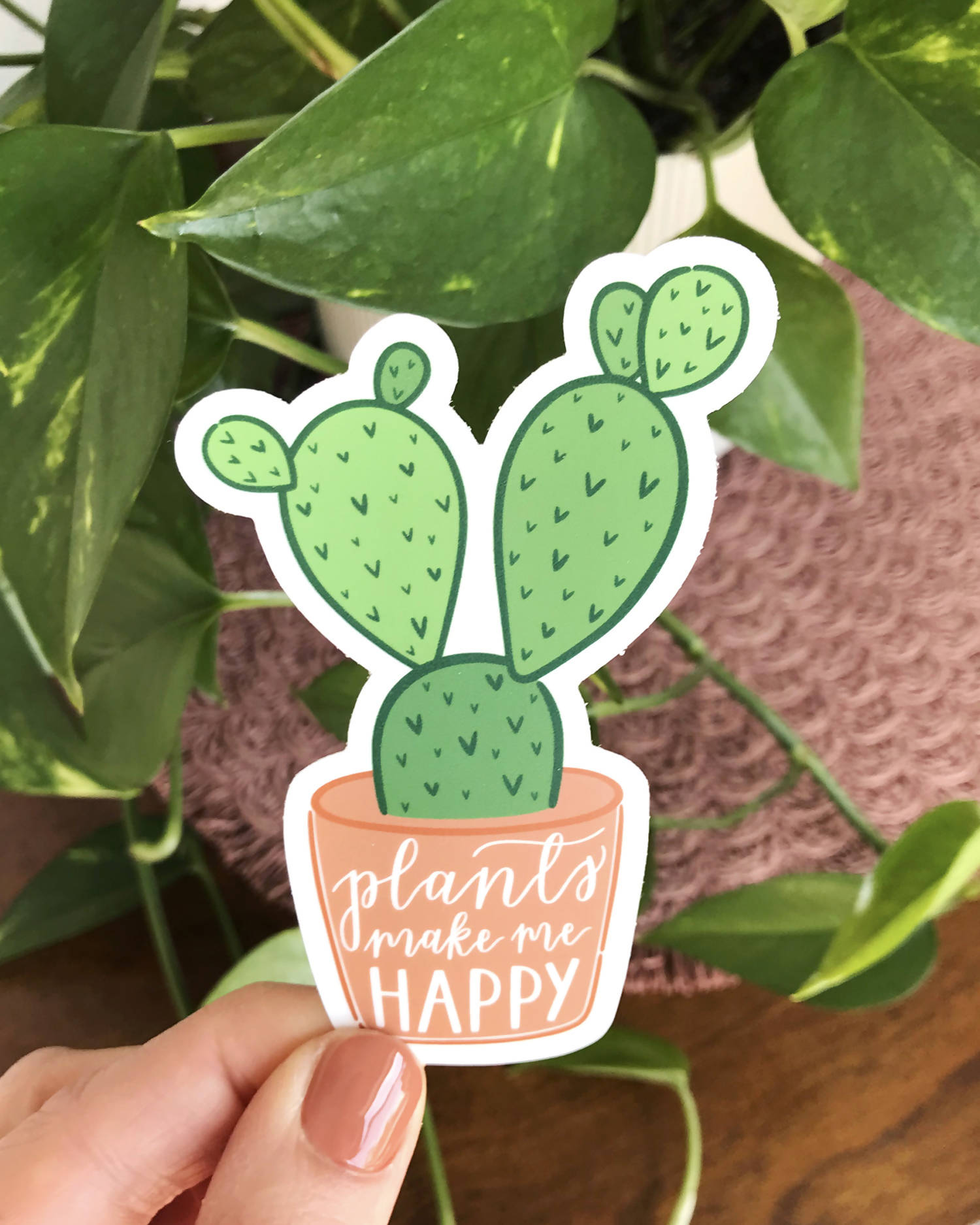 Plants Make Me Happy Sticker