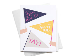Pennant Flags Congrats Greeting Card